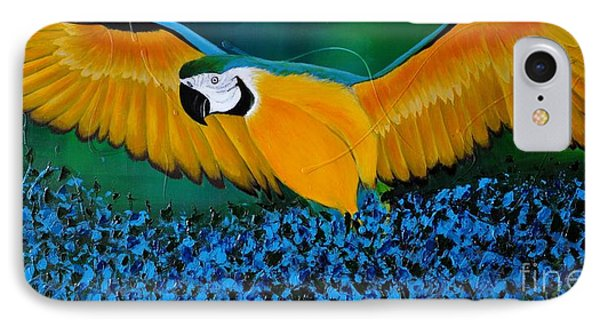 Macaw On The Rise IPhone Case