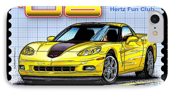2008 Zhz Hertz Fun Club Corvette IPhone Case