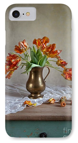 Tulip iPhone 8 Case - Still Life With Tulips by Nailia Schwarz
