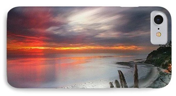 iPhone 8 Case - Long Exposure Sunset At A North San by Larry Marshall