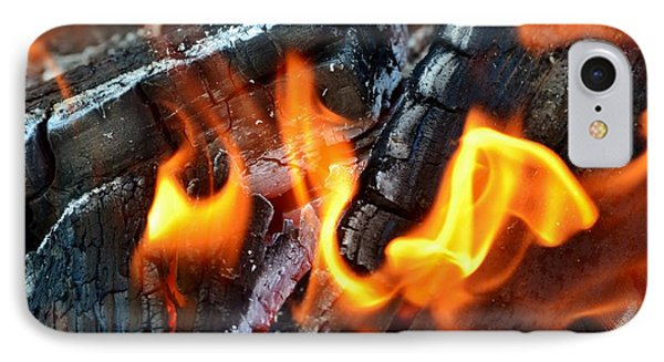 Wood Fire IPhone Case