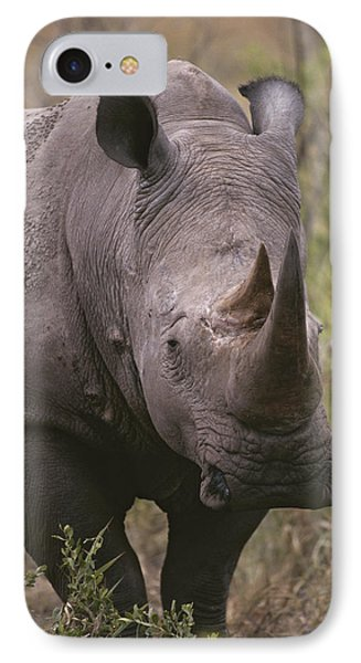 Republic Of South Africa iPhone 8 Case - A Close View Of A White Rhinoceros by Tim Laman