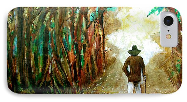 A Fall Walk In The Woods IPhone Case