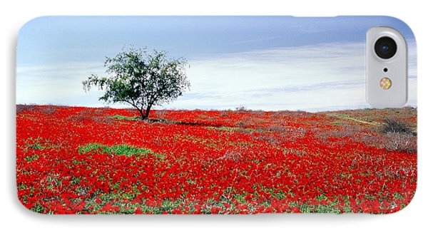 A Tree In A Red Sea IPhone Case