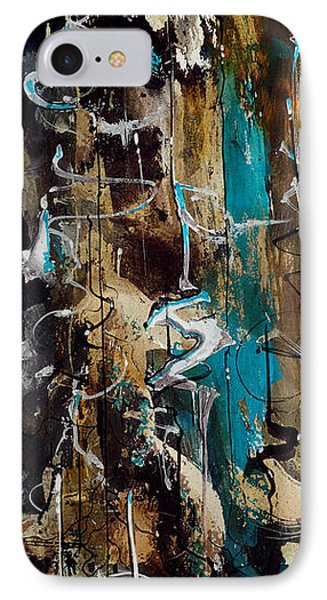 Abstract In Blue And Brown IPhone Case