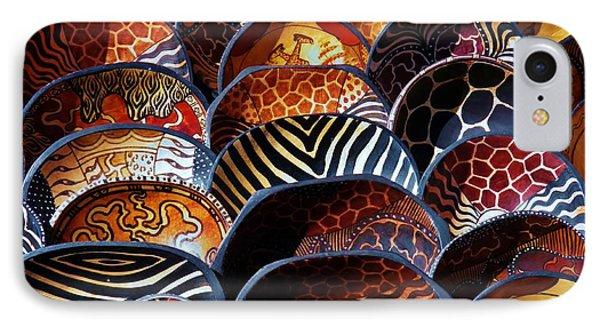 African Art  Wooden Bowls IPhone Case