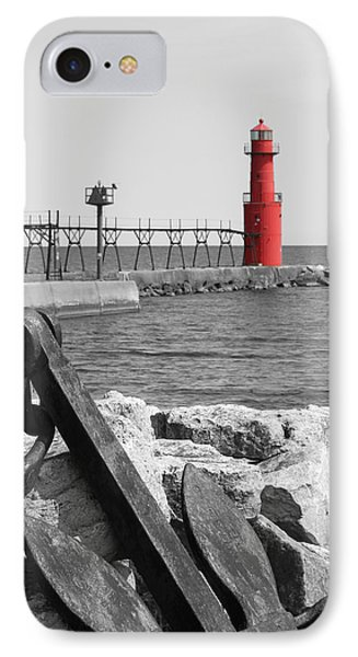 Algoma Lighthouse Is Anchored IPhone Case