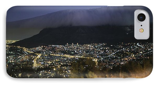 Republic Of South Africa iPhone 8 Case - An Elevated View Of Cape Town And Table by Tino Soriano