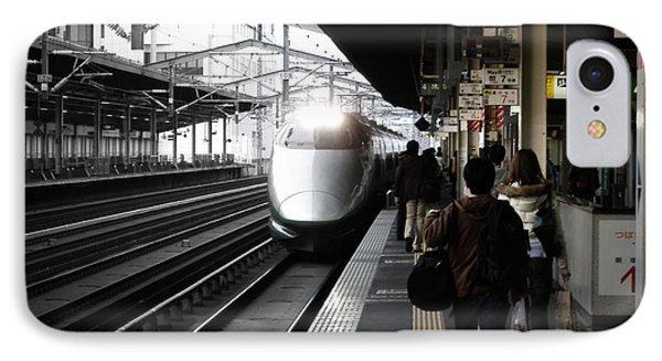 Train iPhone 8 Case - Arriving Train by Naxart Studio