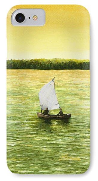 Bar Harbor Sailboat IPhone Case