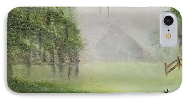 Barn On Foggy Morning IPhone Case