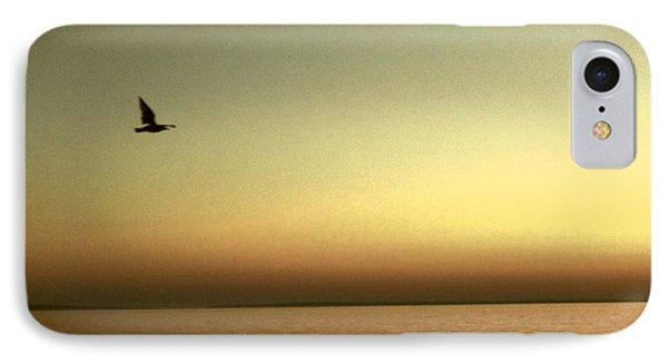 Bird At Sunrise - Sepia IPhone Case