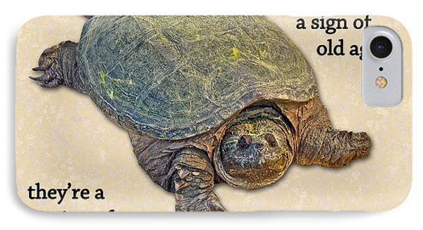 iPhone 8 Case - Birthday Card American Snapping Turtle by Mother Nature