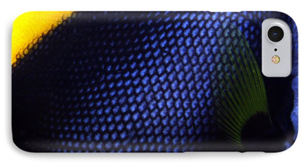 Blue And Yellow Scales IPhone Case