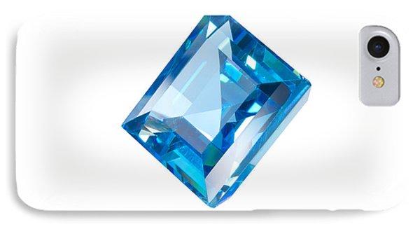 Blue Gem Isolated IPhone Case