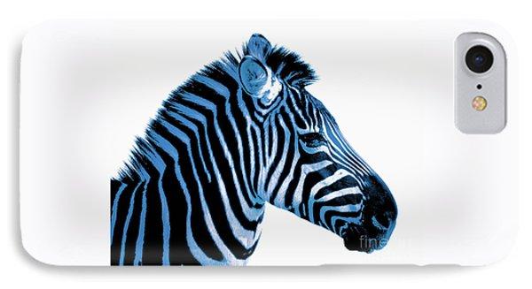 Blue Zebra Art IPhone Case