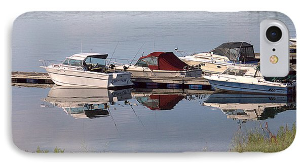 Boats At The Marina IPhone Case