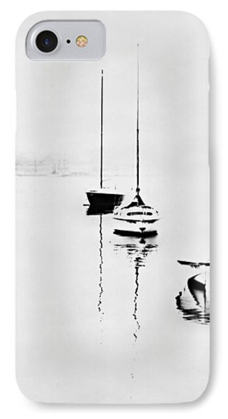 Boats On Foggy Lake Lucerne IPhone Case