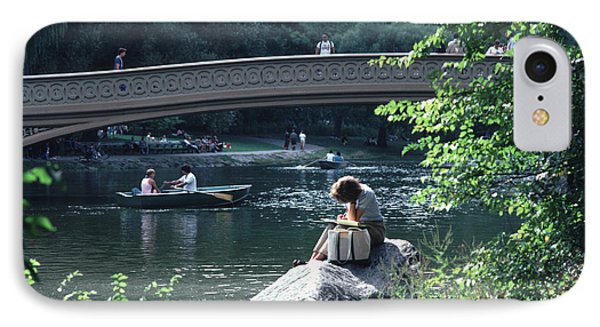 Bow Bridge In Central Park Nyc IPhone Case