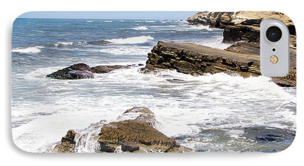 Breakwaters At Point Loma IPhone Case
