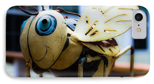 Bumble Bee Of Happiness Metal Sculpture IPhone Case