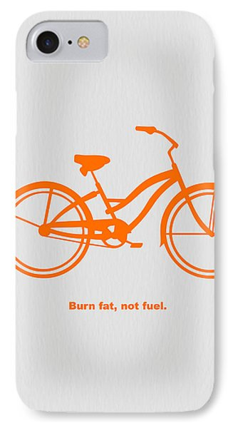 Bicycle iPhone 8 Case - Burn Fat Not Fuel by Naxart Studio