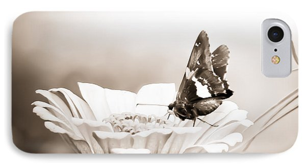 Butterfly On Flower Bw IPhone Case