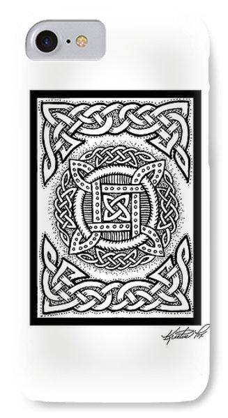 Celtic Four Square Circle IPhone Case