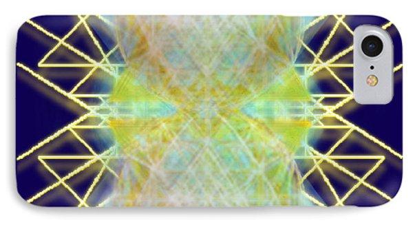 Chalicesphere Pirayed Matrix Gold In Blue IPhone Case