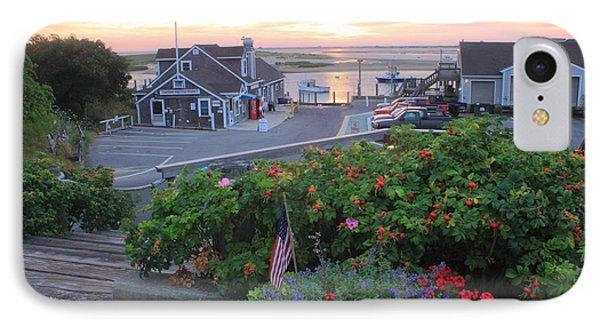 Chatham Fish Pier Summer Flowers Cape Cod IPhone Case
