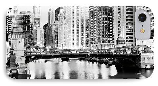 Chicago Downtown At Clark Street Bridge IPhone Case