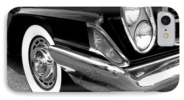 Chrysler 300 Headlight In Black And White IPhone Case