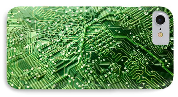 Circuit Board, Computer Artwork IPhone Case