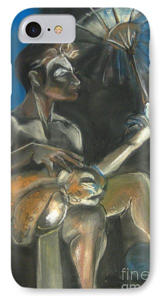 Circus Man With Tiger IPhone Case