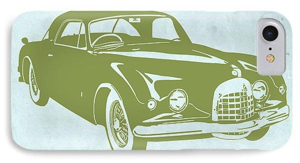 American iPhone 8 Case - Classic Car by Naxart Studio