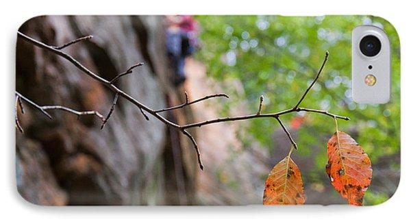 Climber In Fall IPhone Case