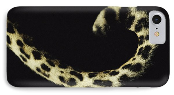 Republic Of South Africa iPhone 8 Case - Close View Of A Leopards Curled Tail by Kim Wolhuter
