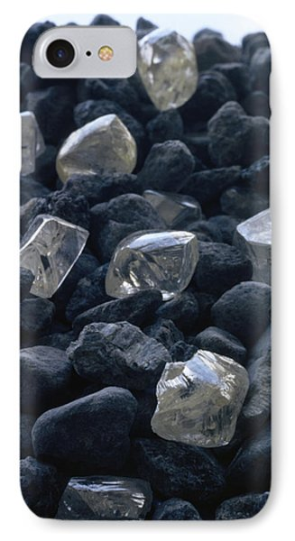 Republic Of South Africa iPhone 8 Case - Close View Of Crystals Scattered Among by James P. Blair