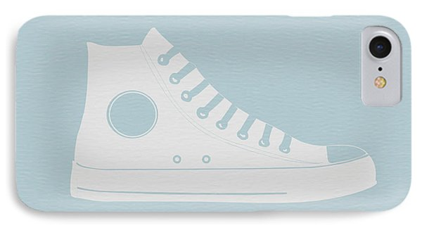 Whimsical iPhone 8 Case - Converse Shoe by Naxart Studio