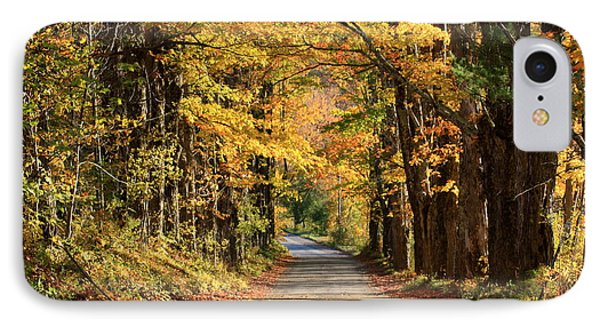 Country Roads In Autumn IPhone Case