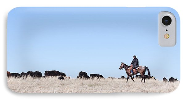 Cowboy And Cattle IPhone Case