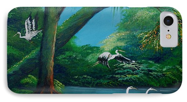 Cranes On The Swamp IPhone Case