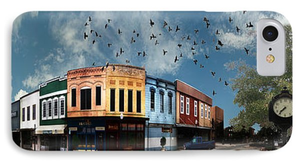 Downtown Bryan Texas 360 Panorama IPhone Case