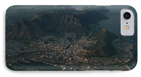 Republic Of South Africa iPhone 8 Case - Early Morning Aerial View Of Cape Town by James L. Stanfield