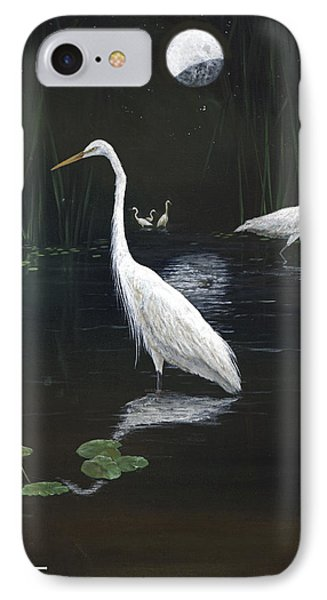 Egrets In The Moonlight IPhone Case