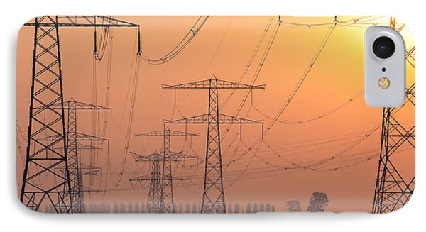 Electricity Pylons IPhone Case