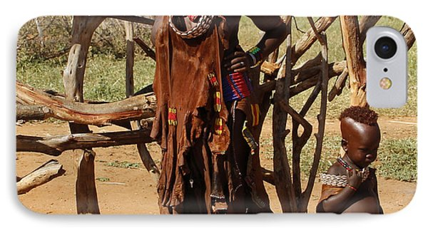Ethiopia-south Mother And Baby No.2 Detail B IPhone Case