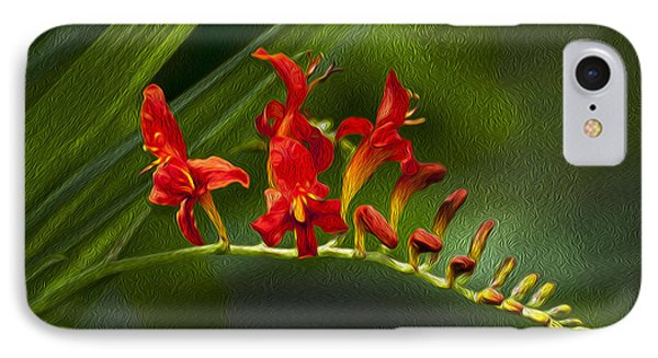 Fire In The Garden IPhone Case