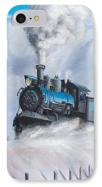 Train iPhone 8 Case - First Train Through by Christopher Jenkins