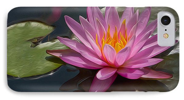 Flaming Waterlily IPhone Case